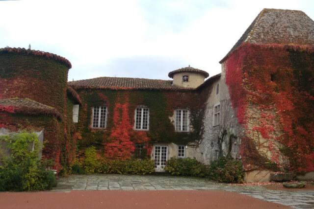 Cour intérieur Château de Montrouge en Automne
